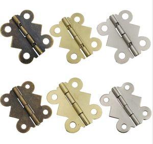مصغرة الفراشة الباب مفصلات 20MM x17mm برونزية مجلس الوزراء درج صندوق مجوهرات تزيين المفصلي للأثاث