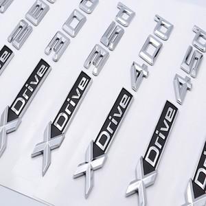 Styling 3D-Auto-Aufkleber ABS Xdrive 20d 25d 28d 30d 35d 40d 45d 48d 55d Side-Abzeichen-Emblem-Aufkleber Emblem Abzeichen Logo für BMW X2 X3 X4 X5