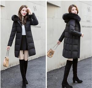 Aşağı İçinde Sıcak Coat Femme ile All Etiket Slim Fit Açık Parka Duck Kadınlar Kış Ceket Bayan Real Rakun Kürk Yaka