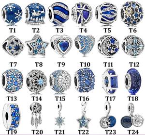 De haute qualité d'origine créative Perle S925 en argent sterling citrouille voiture de base de la chaîne Série Bleu Bracelet Perles Hanging Bricolage Accessoires