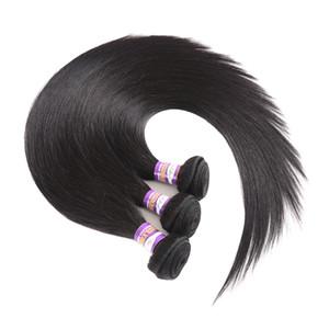 9А распродажа Малайзии прямые волосы бразильский человеческих волос Weave необработанные перуанский Индийский Виргинские Реми шелковистые прямые волосы пучки