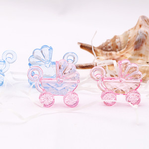 Pink Blue Mini Baby Carriage Baby Shower Favor Christening Party Favor Decor Birth Announcement Cake Gift Box Decorations