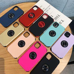 Support de bague anti-choc Téléphone cas pour l'iPhone 11 Pro X XR Max 8 7 6 Plus Samsung Note 10 A10 Armure Cases hybrides