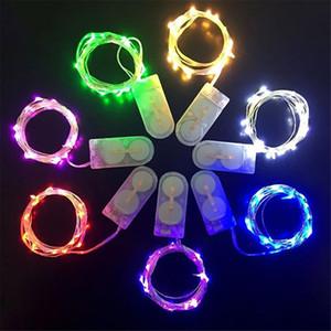 2M 20LEDs led cordes Opéré Micro Mini Cuivre Argent Fil Étoilé LED Cordes De Noël Halloween Décoration CR2032 Batterie