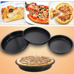 6/7/8/9/10 inç Pizza Tabak Yuvarlak Bulaşık Pizza Pan Tepsi Food Grade Karbon Çelik Yapışmaz Kalıp Pişirme Aracı Pişirme Kalıp Pan VT0874