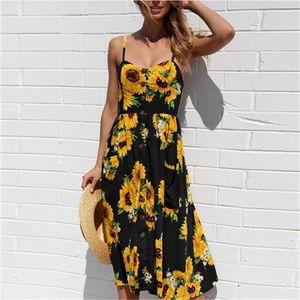 A3i3K Fransız Romantizm Retro Elbiseler Kadınlar Elbiseler Lady Kare Yaka Casual Ruffles Puff Kol Midi Günlük Bule Elbiseler Floral Print