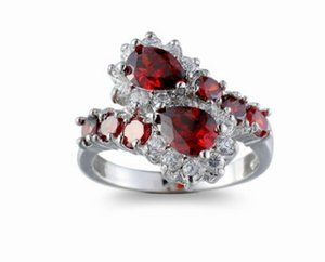 Maravilloso precio de alta calidad diamante crysltal 925 plata anillo de señora tamaño 6 --- 10 ere10