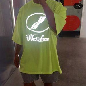بلايز بلون طباعة رسالة مضان We11 به الإناث الملابس كبيرة الحجم الهيب هوب عارضة الملابس النسائية الصيف Desinger