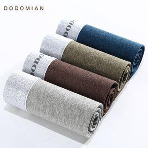 DO DO MIAN Underwear мужчины роскошный пояс высокое качество хлопок боксер дышащий 4 шт.\лот боксер нижнее белье плюс размер L-4XL Y200415