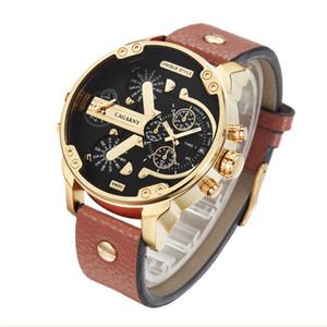 Cagarny Mens sport Watches Black Leather Quartz Wrist Watch Men Sport Male Clock Man Military erkek kol saati