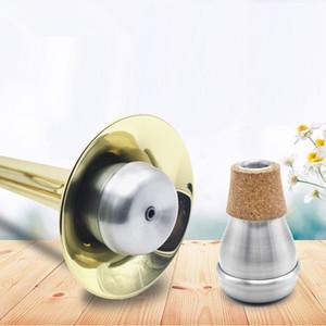 Silver Aluminium Cork Practice Trumpet Bubble Mute Musical Instrument Accessories