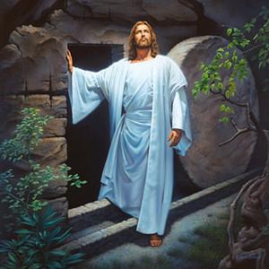 Simon Dewey Jesucristo resucitado de la tumba Decoración Artesanías / impresión de HD pintura al óleo sobre lienzo arte de la pared de la lona representa 200220