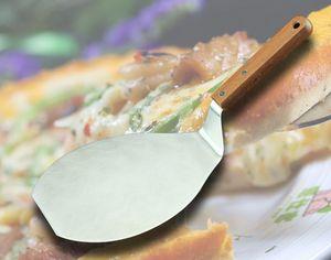 Holzgriff Edelstahl-Pizza-Schaufel-Qualitäts-Kuchen Pizza Server Plätzchen Spatel Big Pizza Schaufel