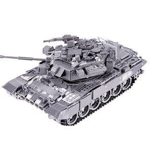 3D 금속 퍼즐 장난감 P047S T-90A 탱크 모델 키트 조립 금속 3D 퍼즐 Y200413