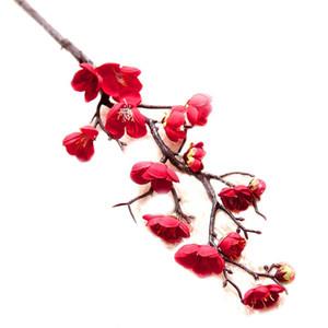 Ev W için 1 adet Yapay Erik Blossom60 cm uzunluğunda Lifelike Plum Blossom Çiçek Buket Şubesi İpek Uzun Sahte Çiçek Düzenlemeleri