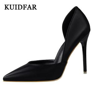 KUIDFAR Topuklar Kadın Sivri Burun Bayan Düğün Ayakkabı kadınlar Düz renk 3168-3 için Seksi Yüksek Topuk Ayakkabı Yaz Yüksek topuklu pompaları