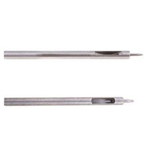 Набор из 2 круглых отверстий приводной пуансон для кожаного ремня ремешок для часов прокладка диаметром 0,5 мм и 1,0 мм
