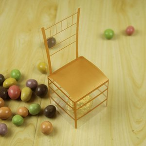 Gift Box estilo europeu, caixa dos doces PVC Cadeira de ouro Cadeira real doces de casamento Retorno Fabricantes Venda Direta