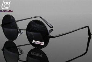 =Клара вида= высококачественного алюминиевого магниевого сплава ретро круглый женщин людей поляризованных солнцезащитных очков Tac с повышенной поляризованные солнцезащитные очки