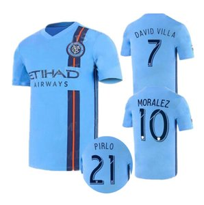 2019 New York City camisa de futebol em casa 19 20 MLS LAMPARD 8 PIRLO 21 MCNAMARA MORALEZ DAVID VILLA 7 camisas de futebol de alta qualidade