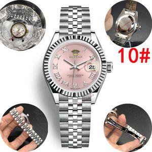 15 colores Rhinestone 28mm automática Mujeres digital de color rosa romana impermeable reloj Dropshipping relojes de oro para mujer regalos de las mujeres Reloj de pulsera