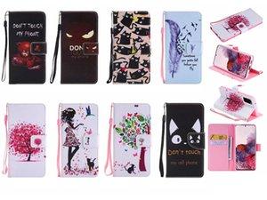 Portafoglio in pelle di caso per Samsung S20 Ultra A71 A51 Sony Xperia 20 XZ5 Leopard Parigi non coprono del cranio del fumetto Touch My Phone fiore di farfalla
