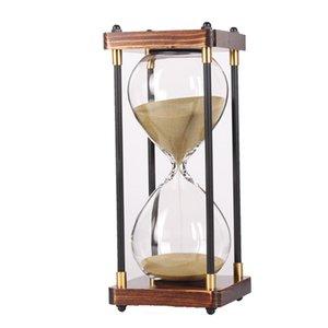 30 Minutos de reloj de arena reloj de arena para la cocina Escuela Moderna horas de madera de cristal Reloj de Arena Arena Reloj Temporizador de la decoración del hogar regalo