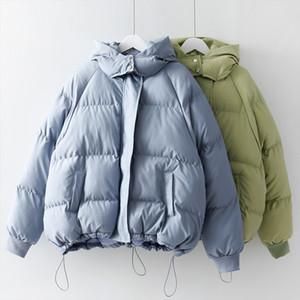 Mooirue 2019 Inverno Parka Casual coreana Plus Size Overcoat Jaquetas Espessamento algodão acolchoado com capuz Quente Outwear Algodão Vestuário
