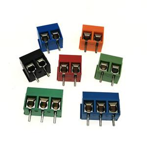 Les meilleurs KF301-2P KF301-3P 5.0mm 2PIN / PCB 3Pin bornier à vis du connecteur, 2PIN / 3PIN Couleurs