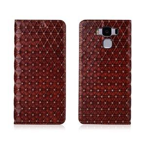 Étui en cuir véritable pour Asus Zenfone 3 MAX ZC553KL Housse magnétique pour Asus Zenfone 3 MAX ZC553KL Flip Case Slot carte de couverture en cuir