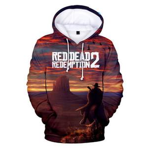 RED DEAD REDEMPTION 2 3D 프린트 대형 후드 여성 / 남성 긴 소매 패션 후드 티 스웨터 2018 Hot Game Casual Wear