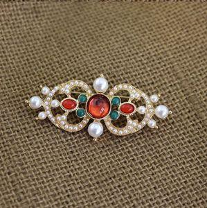 Fashion-New Fashion Broches Pins plaqué or Perle de la Croix-PINS Broches pour hommes femmes pour la fête de mariage de Nice cadeau X678