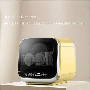 Intelligent automatic dishwasher home desktop free installation mini small air dry smart dishwasher machine