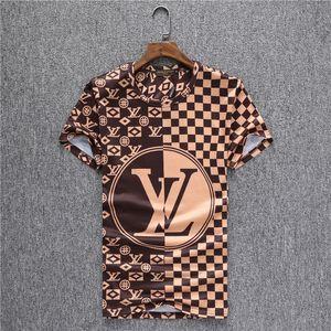 TTTT 2019 럭셔리 잉글랜드 런던 클래식 격자 무늬 편지 자수 티 높은 품질 스케이트 보드 T 셔츠 남성 여성 의류 목화 캐주얼 T 셔츠