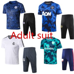 2020 Dortmund man unit reall madrid Argentina soccer survetement short sleeves 3 4 pants tracksuit training football shirt kit chandal set