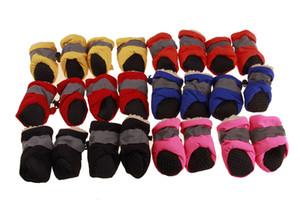 4 peças por Set Pet Four Season de cão Soft Overshoes Verão Inverno Neve Botas sapatos cão sapatos impermeáveis