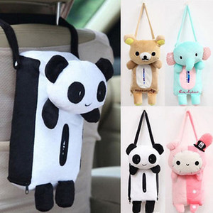 Прекрасный милый кролик медведь слон Panda Home Office Автомобиль Автомобильные ткани коробки Обложка Салфетка Бумажные полотенца Держатели Чехлы