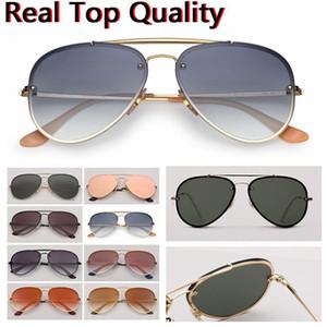 جديد وصول الطيار النظارات الشمسية إمرأة / رجل كلاسيكي UV400 الطيران نظارات الشمس العلامة التجارية أعلى جودة حقيقي نسخة محدودة نظارات 3584 عدسة الحريق