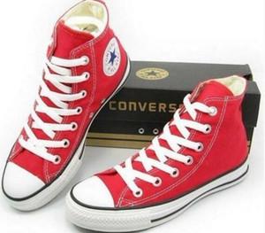 O transporte da gota Marca Novas 15 cores todo o tamanho 35-46 High Top Sports Stars calçados casuais das mulheres de sapatos Low Top Classic Canvas Sneakers Homens ANF9