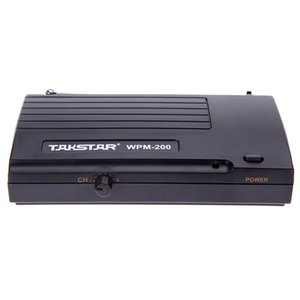 Hot New Takstar WPM-200 UHF Wireless Audio System Receiver LCD Display 6 Selectable Channels 50m Transmission Distance