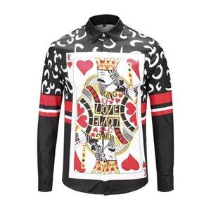 2019 ultima manica lunga parte del club capo designer discoteca della tigre degli uomini della camicia degli uomini della camicia di stampa vestito di abbigliamento di marca Seestern 3D Medusa M-