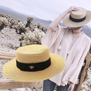 Прекрасный Пчелиный курорт Cap Мода Женщины Дети Hat Мягкая трава Braid Hat Девушки Casual пляж Cap Открытый Hat