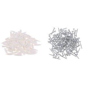 200 Pezzi ad alta resistenza Hole Oblique autofilettante da metallo in lamiere di plastica accessori in legno