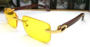 2020 Fashion rimless buffalo horn glasses sunglasses for mens summer styles man sport sunglasses for men women clear lens