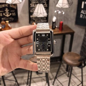 2020 hot top high quality luxury designer brand joker leather tank watch mens square automatic movement men watches a3