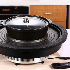 4000w Электрическая плита Гриль барбекю горячий горшок 50см Коммерческая Мангал машина с нержавеющей стали Пот