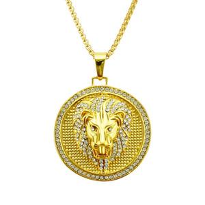 HXC Necklace hip-hop round lion head necklace personalized pendant necklace