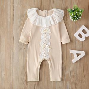 Melario Bebek Sonbahar Giyim Yenidoğan Bebek Bebek Kız Rompers Örme Oluklu Jumpsuit Katı Giyim Sıcak Kıyafet
