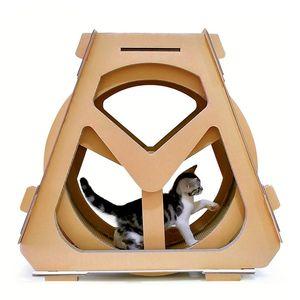 Гофрированная бумага беговая дорожка колесо обозрения мебель для домашних животных кошка царапины доска захватить ползать вращение полки
