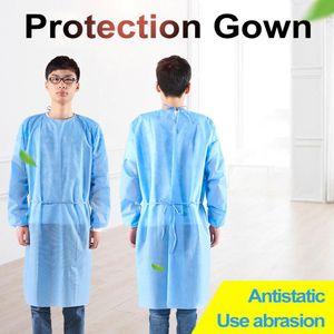 El aislamiento protector no tejido en contacto con Stock desechables Protección del vestido de ropa para el hogar ciclo al aire libre anti-vaho Traje anti-partículas
